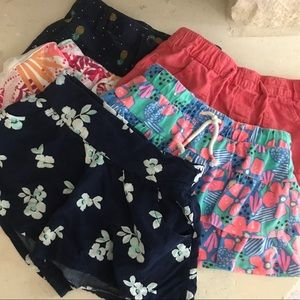 Other - Girls Bottoms Skirts Shorts 5 Pc Bundle 5 6 7